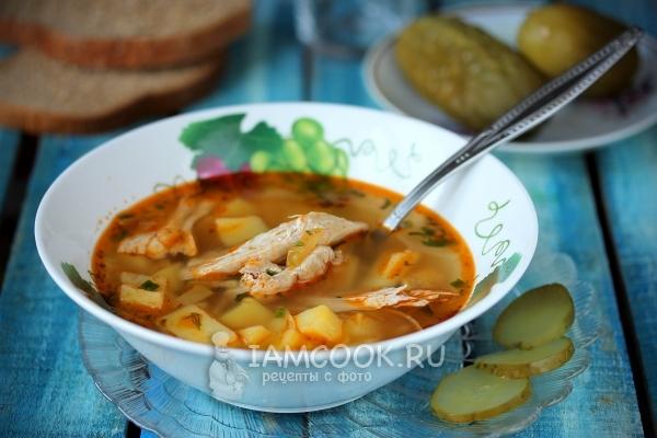 Фото супа с солёными огурцами