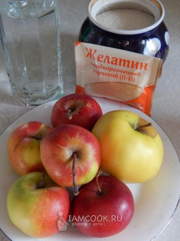 Ингредиенты для желе из яблок