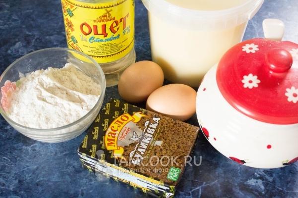Ингредиенты для торта «Наполеон» со сгущенкой