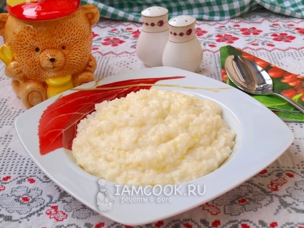 Фото рисово-пшенной каши на молоке