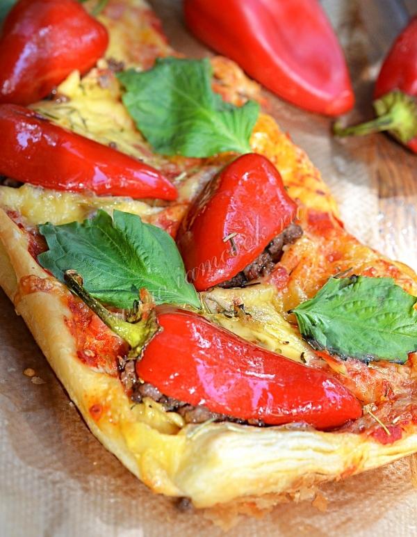 Пирог-пицца с болгарским перцем — рецепт с фото пошагово
