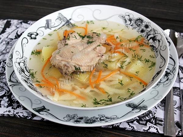 Куриный суп в мультиварке, рецепт