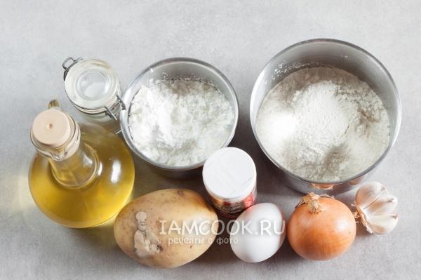 Ингредиенты для картофельных вафель