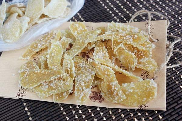Рецепт цукатов из имбиря