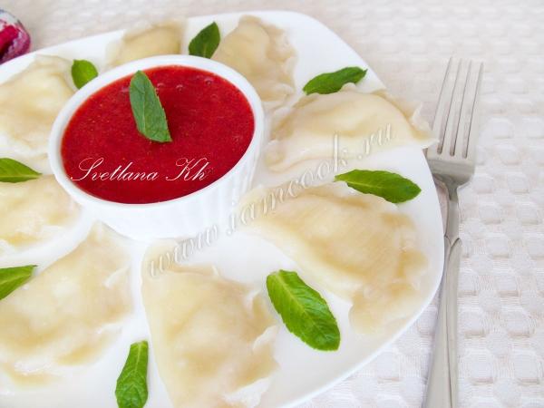 Рецепт вареников с творогом на кефире