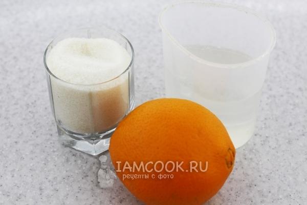 Ингредиенты для варенья из апельсиновых корок