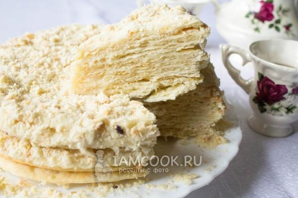 Рецепт торта «Наполеон» со сгущенкой