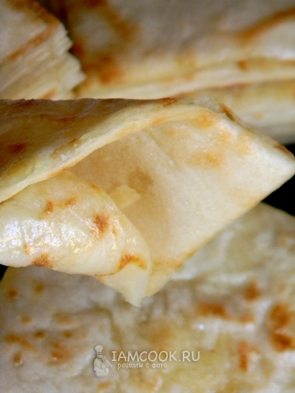 Готовые хычины с сыром и картофелем