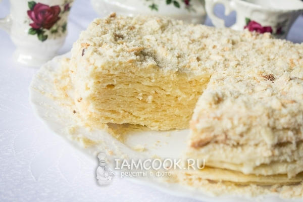 Торт «Наполеон» со сгущенкой