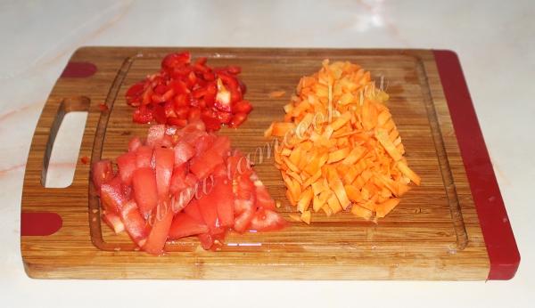 мелко порубленные овощи