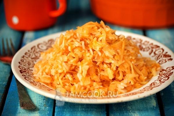 Рецепт капусты с рисом