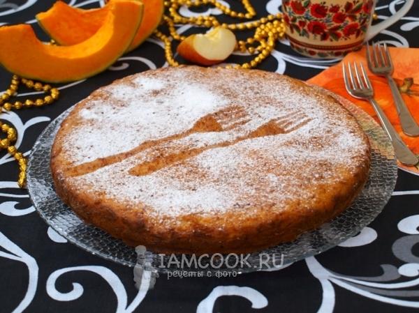 Рецепт тыквенно-яблочного пирога