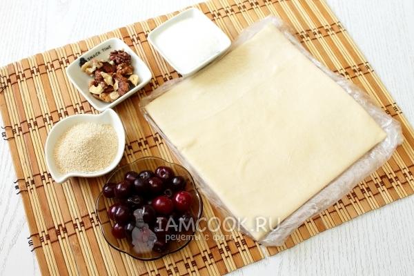 Ингредиенты для штруделя с вишней