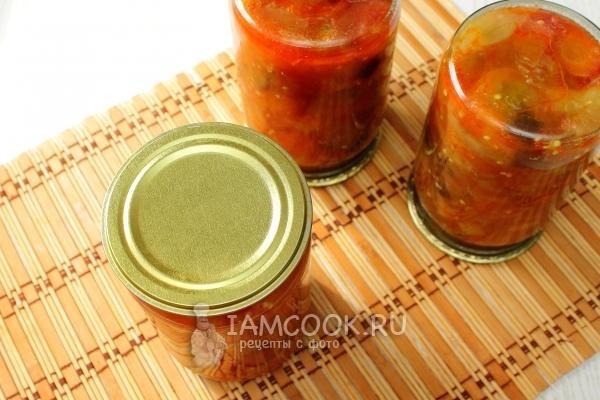Рецепт салата «Десятка» из баклажанов на зиму