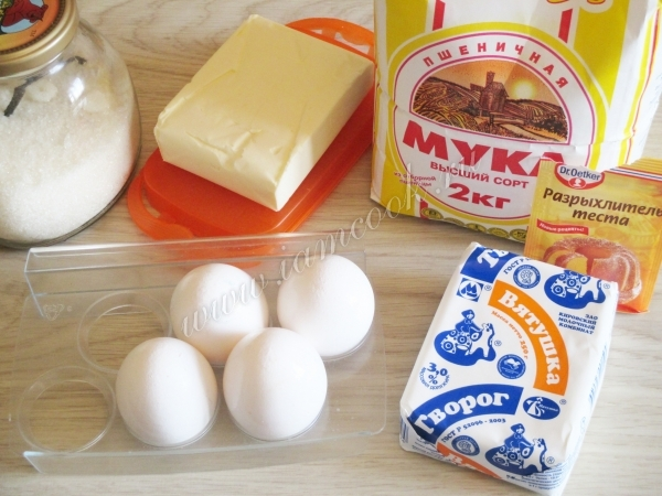 Ингредиенты для творожного кекса в мультиварке