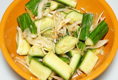 Готовим огуречный салат по-Китайски