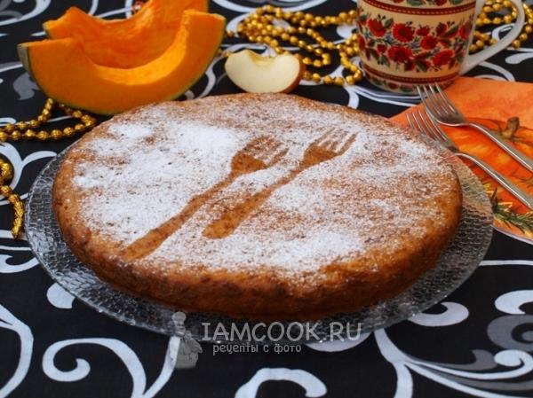 Фото пирога из тыквы и яблок