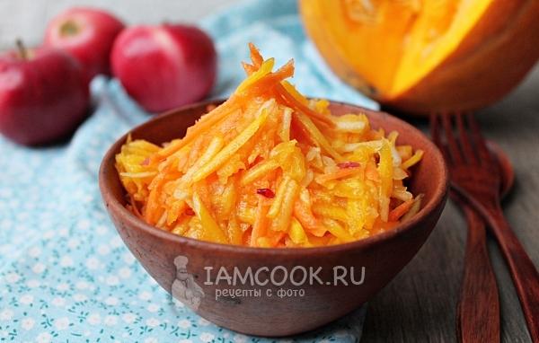 Салат из свеклы тыквы и яблока
