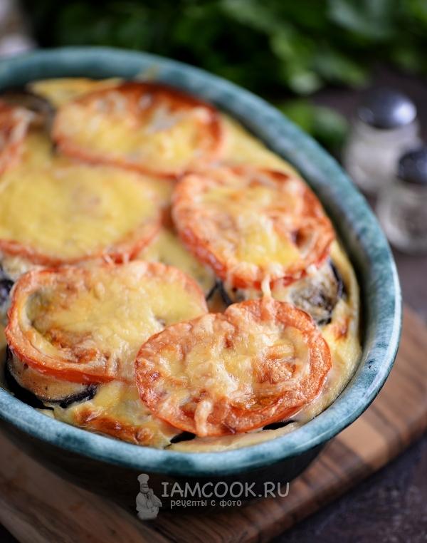 картошка с баклажанами и помидорами