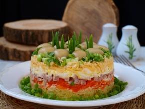 грибная поляна рецепт салата с фото пошагово