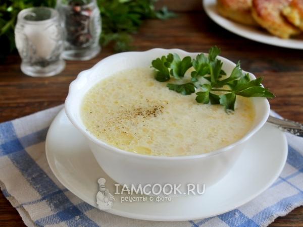 сырный суп с сырком дружба
