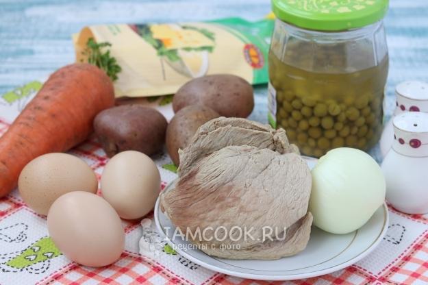 Оливье рецепт из свинины