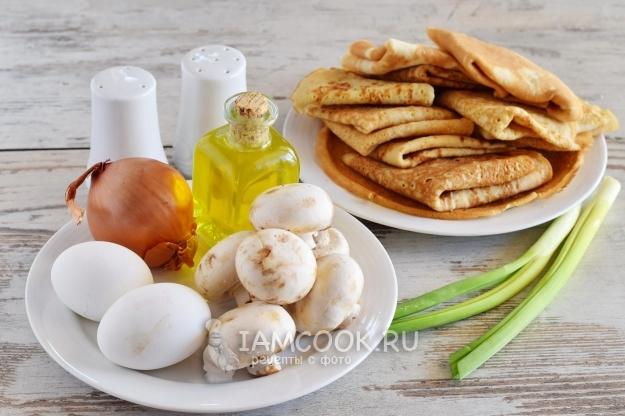 начинка для блинов из грибов и яиц