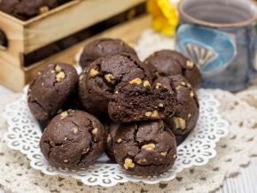 шоколадное печенье с орехами рецепт