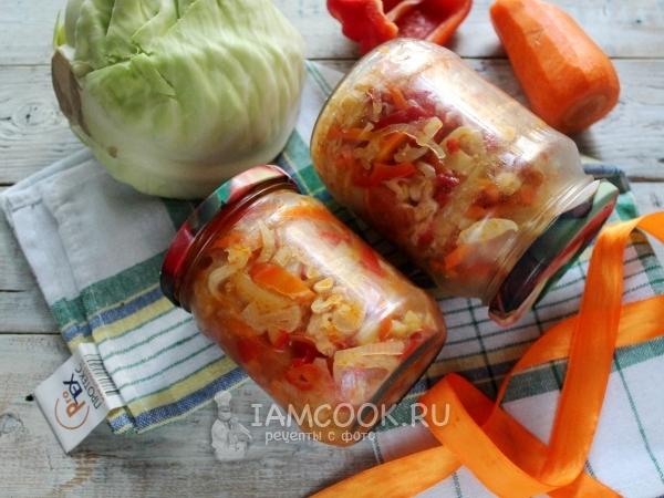салат дунайский с капустой и огурцами