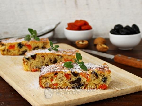 Пирог с курагой и черносливом — рецепт с фото пошагово