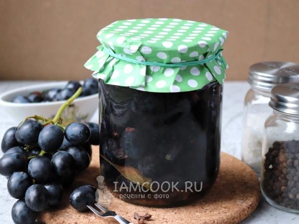 Маринованный виноград на зиму без стерилизации — рецепт с фото пошагово