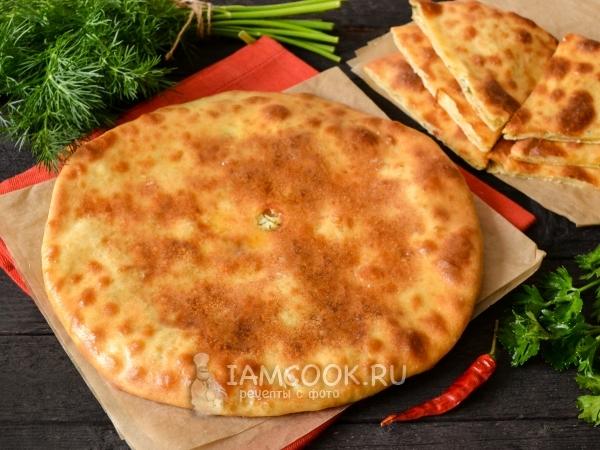 Осетинский пирог на кефире — рецепт с фото пошагово