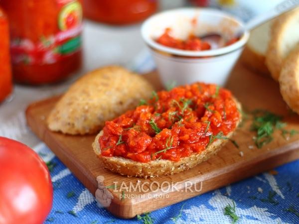 Острая закуска из помидоров на зиму — рецепт с фото пошагово