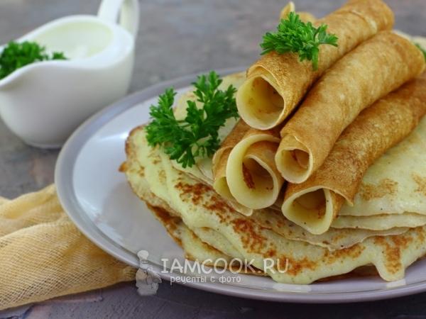 Тонкие картофельные блины — рецепт с фото пошагово