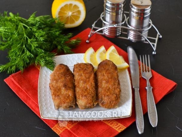 Мясные пальчики из свинины с сыром — рецепт с фото пошагово