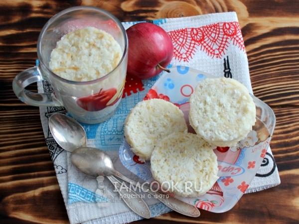 кекс с тертым яблоком