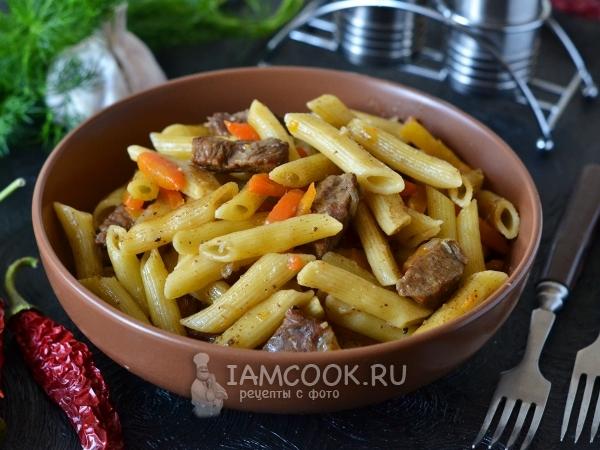 Плов из макарон — рецепт с фото пошагово