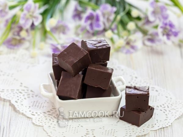 Помадка из шоколада, сгущенки и сливочного масла — рецепт с фото пошагово