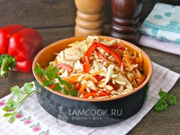 Салат с белокочанной капустой и курицей — рецепт с ... легкий салат с курицей