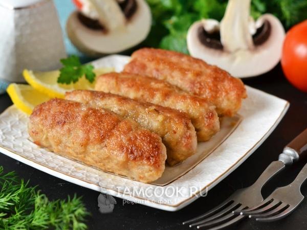 Мясные пальчики с грибами — рецепт с фото пошагово