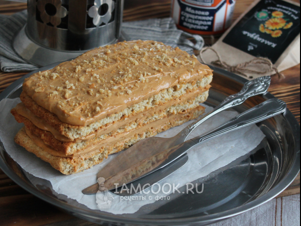 Торт из овсяных хлопьев — рецепт с фото пошагово