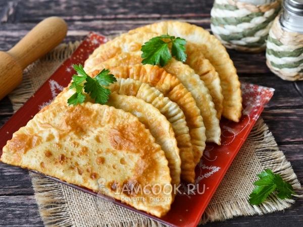 Чебуреки с сыром и сырой картошкой — рецепт с фото пошагово