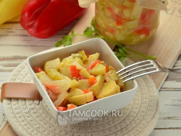 Салат из патиссонов на зиму без стерилизации — рецепт с фото пошагово