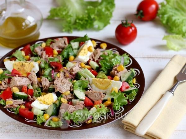 Испанский салат — рецепт с фото пошагово