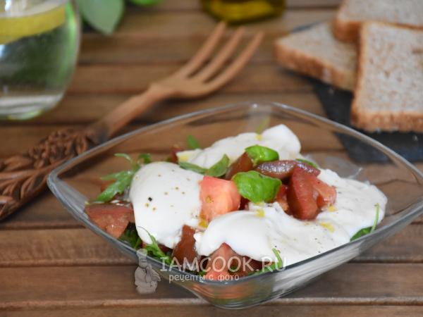 Салат с рукколой и сыром буррата — рецепт с фото пошагово