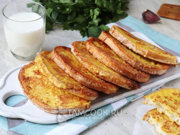 Хлеб в кляре — рецепт с фото пошагово