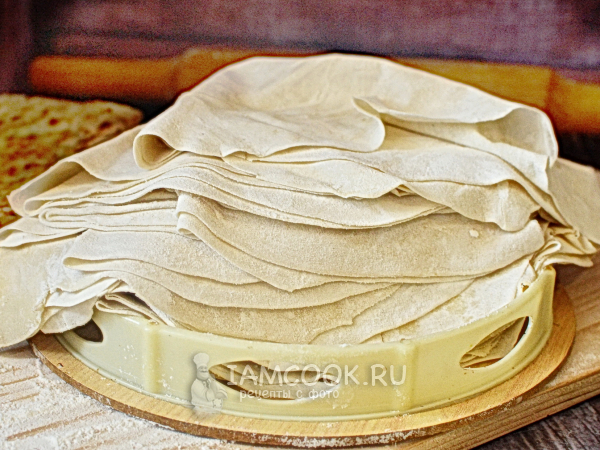 Тесто «Юфка» — рецепт с фото пошагово