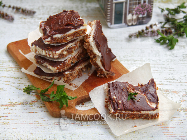 Пирожное «Нанаймо» — рецепт с фото пошагово