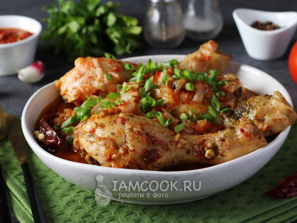 Чашушули по-грузински из курицы — рецепт с фото пошагово