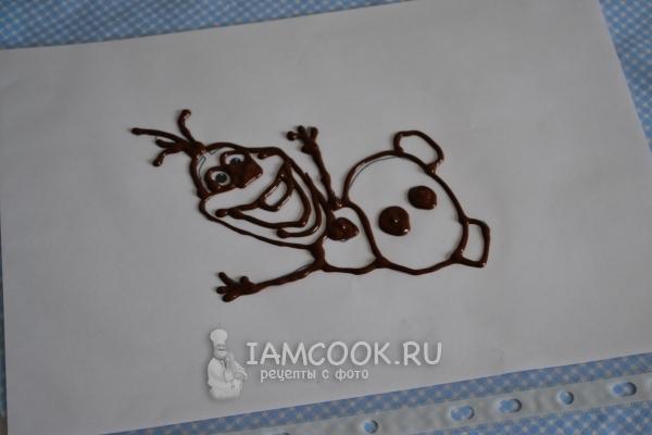 Сделать рисунок шоколадом